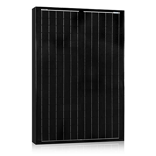 ACOPOWER 100w Solar Panel, All Black 100 Watts 12v Volts Monocrystalline PV Panel Module with MC4 Connector for Battery Charging, Boat, Caravan, RV and Any Other Off Grid Applications ()