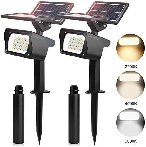 Luces Solares Led Exterior MEIKEE 40 LED Focos Solares Jardín Impermeable IP65, 3 Modos Lamparas Solares, Luces Solares Mejoradas con Doble Panel Solar, para Cesped, Camino, Piscina y Patio: Amazon.es: Iluminación