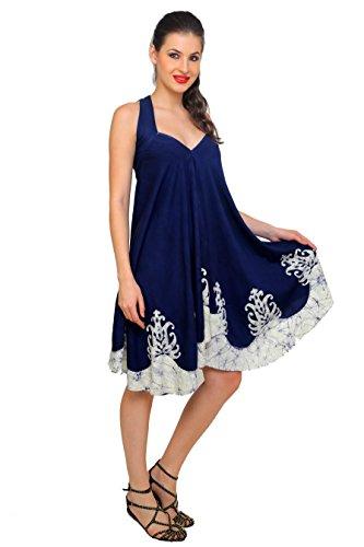 TrendzArt Batik Print 3-in-1 Magic Dress - Sarong Top / Wrap / Skirt (NV+GY)