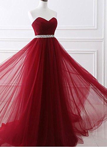 Robe De Bal Chérie Femmes Dys Robe De Demoiselle D'honneur Formelle Longue Soirée De Prune De Ceinture De Ceinture