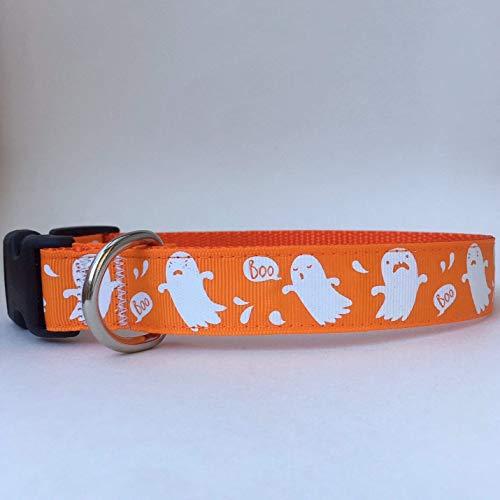 Handmade Halloween Dog Collar- Big Ghost and BOO!