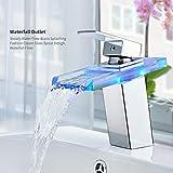 Auralum LED RGB Low Pressure Waterfall Square Decoration Valve Bathroom 2-Year Warranty