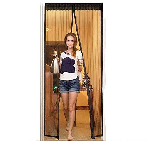 Magnetic Screen Doors New 2018 Patent Pending Design Full Frame Velcro and Fiberglass Mesh Polyester This Instantly Retractable Bug Screen. (Fits Doors up to 36 x 82-inch) 。。gkloi ()