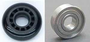 2 x Ruedas - Rollo de 60 mm el cojinete de bolas para carro de ruedas maleta de viaje