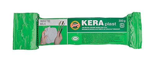 KOH-I-NOOR 013170800000 Keraplast Air Drying Modelling Clay - White
