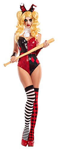 Mean Little Harlequin Cosplay Bunny Adult Costume - X-Large ()