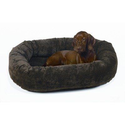 Donut Dog Bed in Chocolate Bones Size: X-Small (22″ x 16″), My Pet Supplies