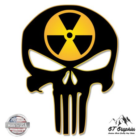 Punisher Skull Nuclear Circle Radiation - 5