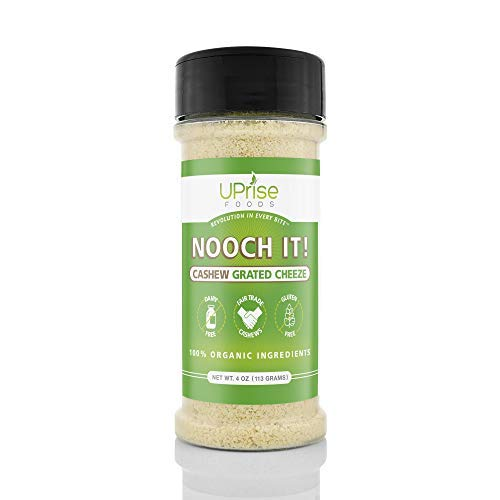 Parmesan Vegetarian (NOOCH IT! Organic Dairy-Free Cashew Grated Cheeze 4oz (Vegan