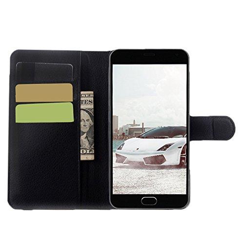 E8Q Voltear a prueba de agua caja de cuero colorida de la cubierta del teléfono de la PU para Meizu M2 Note blanco