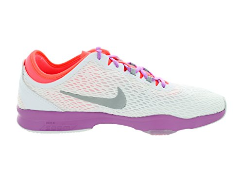 Nike Frauen Zoom Fit Cross Trainer Weiß / Fuchsia Flow / Hot Lava / Metallic Silber