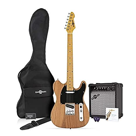 Guitarra Eléctrica Knoxville + Pack de Ampli de 15W - Natural: Amazon.es: Instrumentos musicales