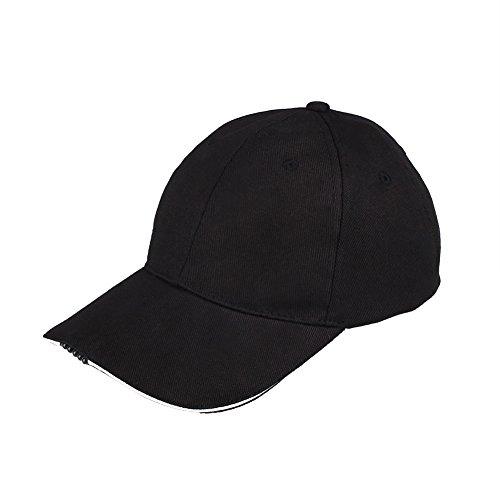 Forfar 野球帽子 野球帽 キャップ 5 LED点滅 夜の光 点灯 アウトドア
