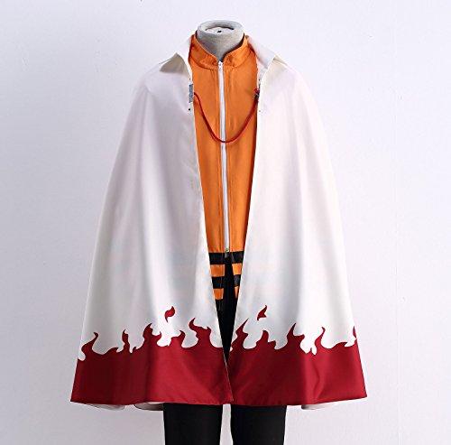 OURCOSPLAY US Size Men's Uzumaki Cloak 7th Hokage Cloak Boruto Cosplay Costume (Men US XL) by OURCOSPLAY (Image #3)