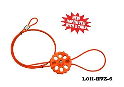 Lockout Tech Cable Lockout System 5/32 x 6ft length, HI-HVZ Orange