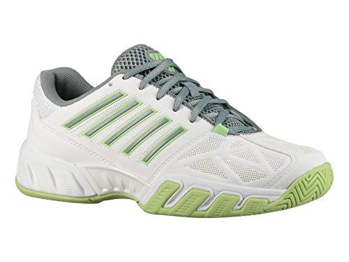K-Swiss Bigshot Light 3 Womens Tennis Shoe (Whit/Paradise Green/Abyss, 9.5 M US)