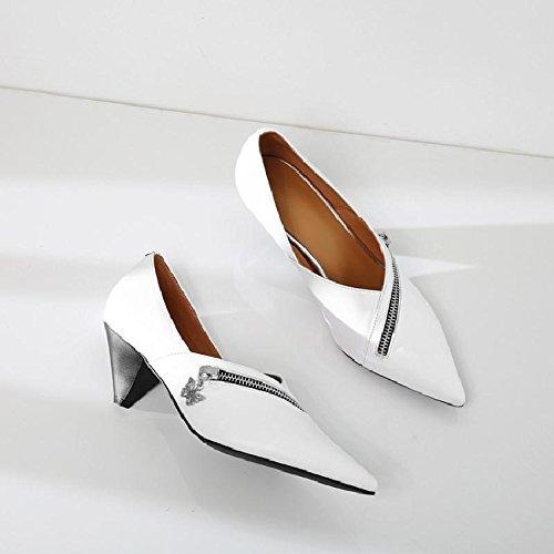Primavera Mujer Zapatos Trabajo De Color Realmente Zapatos Blanco Femenino GAOLIM Mujer Cómodos Mujer De Mujer Zapatos De De Sólido Zapatos El SqUtz