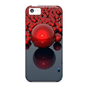 Hot Tpu Covers Cases For Iphone/ 5c Cases Covers Skin - 3d Balls Black Friday