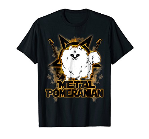 Hail Satan Metal Pomeranian Rock n Roll Halloween T-Shirt ()
