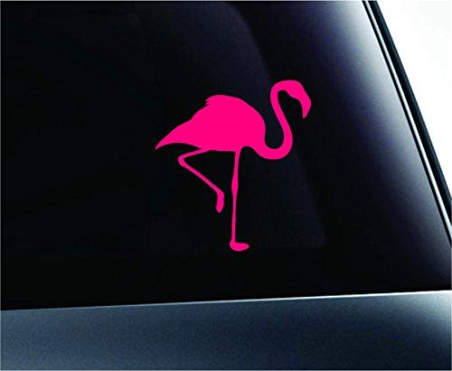 Car Flamingo Silhouette Symbol Decal Funny Car Truck Sticker Window (Pink) (Flamingo Silhouette)