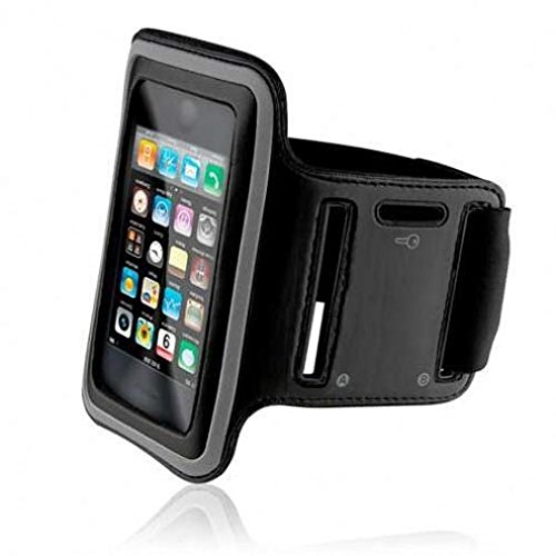 Armband Sports Gym Workout Cover Case Running Arm Strap Band Neoprene Black for Boost Mobile Samsung Galaxy J7 - Boost Mobile ZTE Warp Sync - Consumer Cellular Alcatel Pop 3
