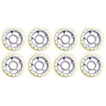 Barbed Wire 8 Inline Skate Wheels 80mm 79a, Clear/Gray
