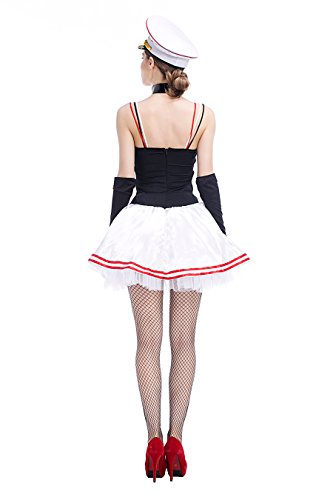 HÖTER Ladies Sexy Sailor Girl Pinup Navy Uniforms Halloween Fancy Dress Costume