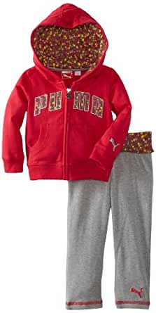 PUMA   Kids Baby Girls' Printed Hearts Set, Barberry, 24 Months