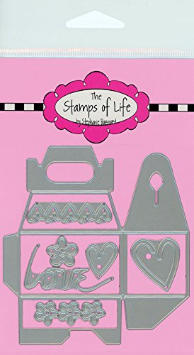 Mini Handle Box Die Cuts for Card-Making and Scrapbooking Supplies by The Stamps of Life - Custom Party Favors