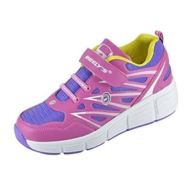 Zapatillas con ruedas automáticas para niños - Transpirables - Mod. 101 - Rosa - Talla 38