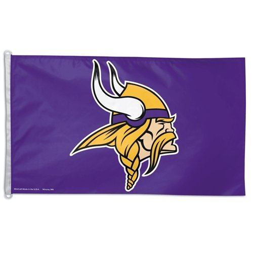 Wincraft Official NFL 3ftx5ft Banner Flag, Minnesota Vikings, One Size by WinCraft