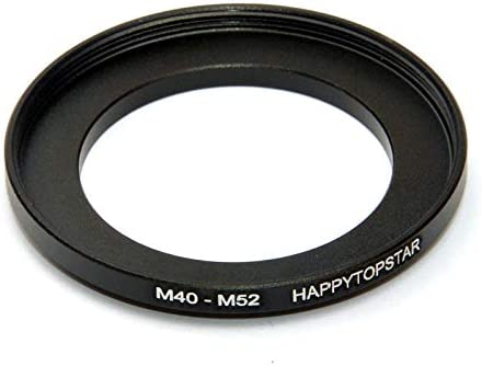 Metal M40 to M52 Male to Female 40mm to 52mm M40-M52 Step-Up Coupling Ring Adapter for Lens Filter