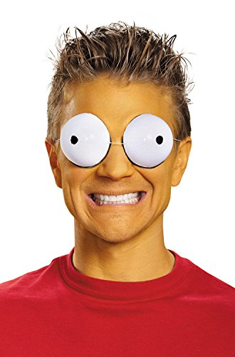 [Disguise Men's Simpson Family Eye Goggles Costume Accessory, White, One Size] (Halloween Goggles)
