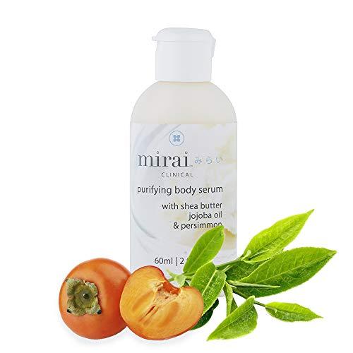 Anti-aging Face and Body Serum | Skin Moisturizer with Hyaluronic Acid, Jojoba Oil & Persimmon | Purifying & Deodorizing Body Serum by Mirai Clinical | Travel Size 2oz