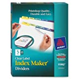 AVE11992 - Avery Index Maker Clear Label Contemporary Color Dividers