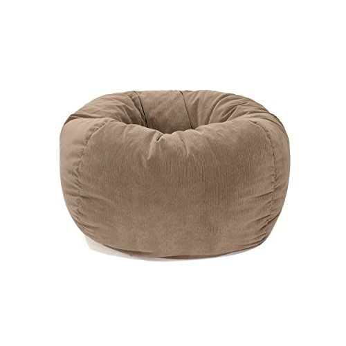 Gold Medal Bean Bags Micro-Fiber Suede Corduroy Bean Bag, Medium/Tween, Toast