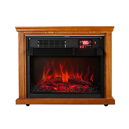 KOOLWOOM Infrared Quartz Electric Fireplace Insert with Heater 1000W-1500W Overheat Safety Feature