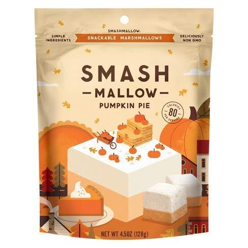 Pumpkin Pie Chocolate - Smash Mallow Snackable Marshmallows Pack 4.5oz (Pumpkin Pie)