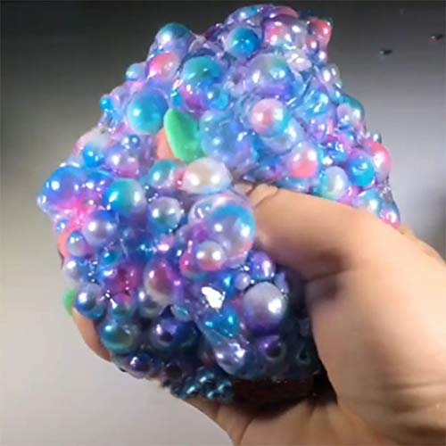 DDLmax 120ml Beautiful Pearl Colorful Beads Slime Putty Scented Stress Kids Clay Toy