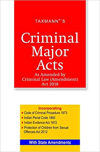Taxmann's Criminal Major Acts Book: August 2018 Edition