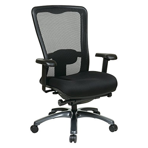 Office Star ProGrid Mesh Back and Padded Coal FreeFlex Seat,