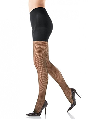 - SPANX Tight-End Tights Shaping Fishnet, G, Black
