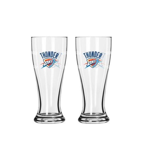 NBA Oklahoma City Thunder Mini Pilsner, 2.5-ounce, - City Oklahoma Glasses