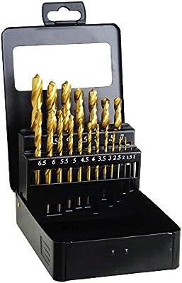 WOLFPACK LINEA PROFESIONAL 9060255 Estuche Brocas Hss Titanio 1-10 mm. 19 Piezas: Amazon.es: Bricolaje y herramientas