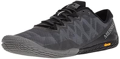 Merrell Women's Vapor Glove 3 Sneaker, Black/Silver, 5 M US