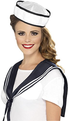 Smiffys Sailor Instant Kit, White/Blue, One Size ()