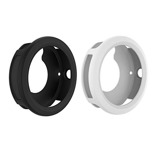 for Garmin Vivoactive 3 Watch Protective Case,RunTech Soft Silicone Case Cover Protector Sleeve for Vivoactive 3 Band Cover (Black&White)