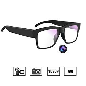 Camera Glasses,WBPINE Hidden Camera Glasses HD 1080P Mini Spy Camera for Outdoor/Training/Teaching/Kids/Pets