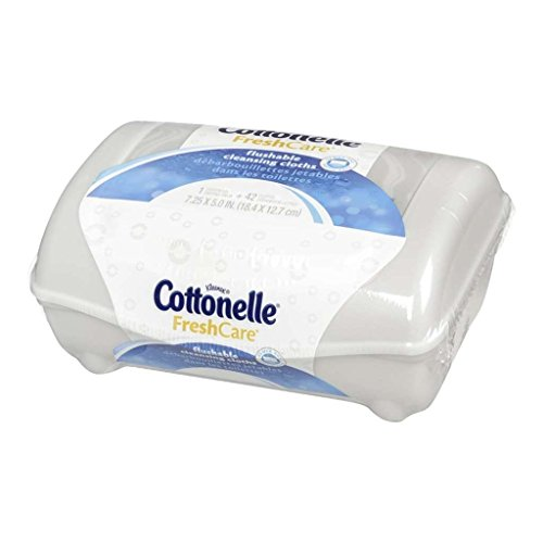 Cottonelle Fresh Flushable Moist Wipes Pop-Up Tub 42 Each (Pack of 2) ()