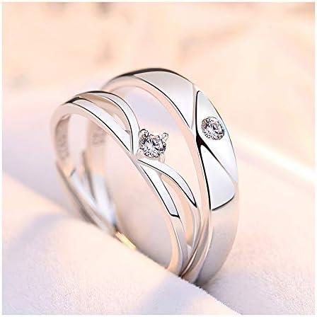 ペアリング 結婚指輪 婚約指輪 シルバー 指輪 カップル リング レディースリング メンズリング 純銀製 2個セット オープンリング エンゲージ リング ペアルック 専用ギフトボックスつき フリーサイズ Keen